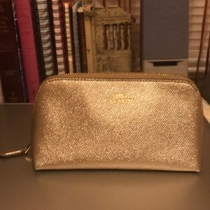 Coach Gold Makeup Cosmetic Case Bag NWOT! 💋💄💥💥